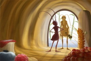 the-ant-and-the-grasshopper-an-interactive-children-s-book-by-tabtale-screenshot-4