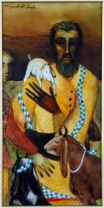 anjolie-ela-menon-good-shepherd-paintings-oil
